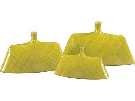 Howard Elliott Chartreuse Green 14 x 5 Green Vase
