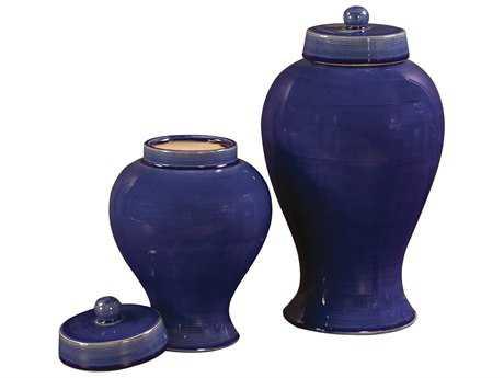 Howard Elliott Cobalt Blue 10 x 17 / 8 Blue Vase
