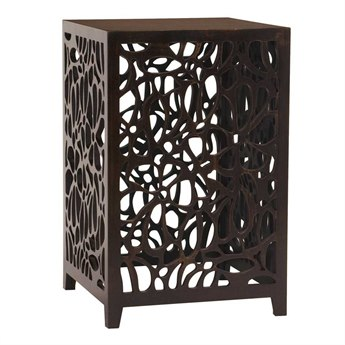 Howard Elliott Knox 18 Square Espresso Brown Wood Side Table