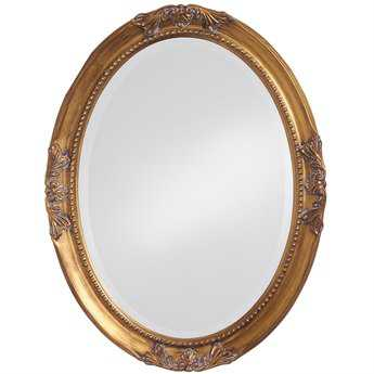 Howard Elliott Queen Ann 25 x 33 Antique Gold Wall Mirror