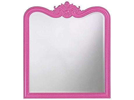 Howard Elliott Eliza 34 x 38 Glossy Hot Pink Wall Mirror