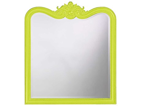 Howard Elliott Eliza 34 x 38 Glossy Moss Green Wall Mirror