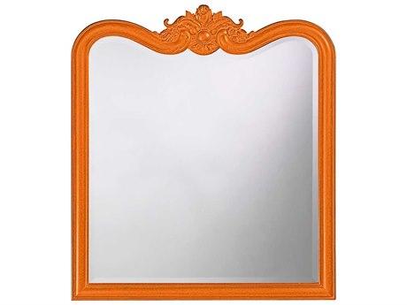 Howard Elliott Eliza 34 x 38 Glossy Orange Wall Mirror