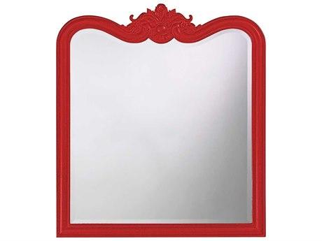 Howard Elliott Eliza 34 x 38 Glossy Red Wall Mirror