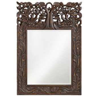 Howard Elliott Oakvale 17 x 25 Antique French Brown Wall Mirror