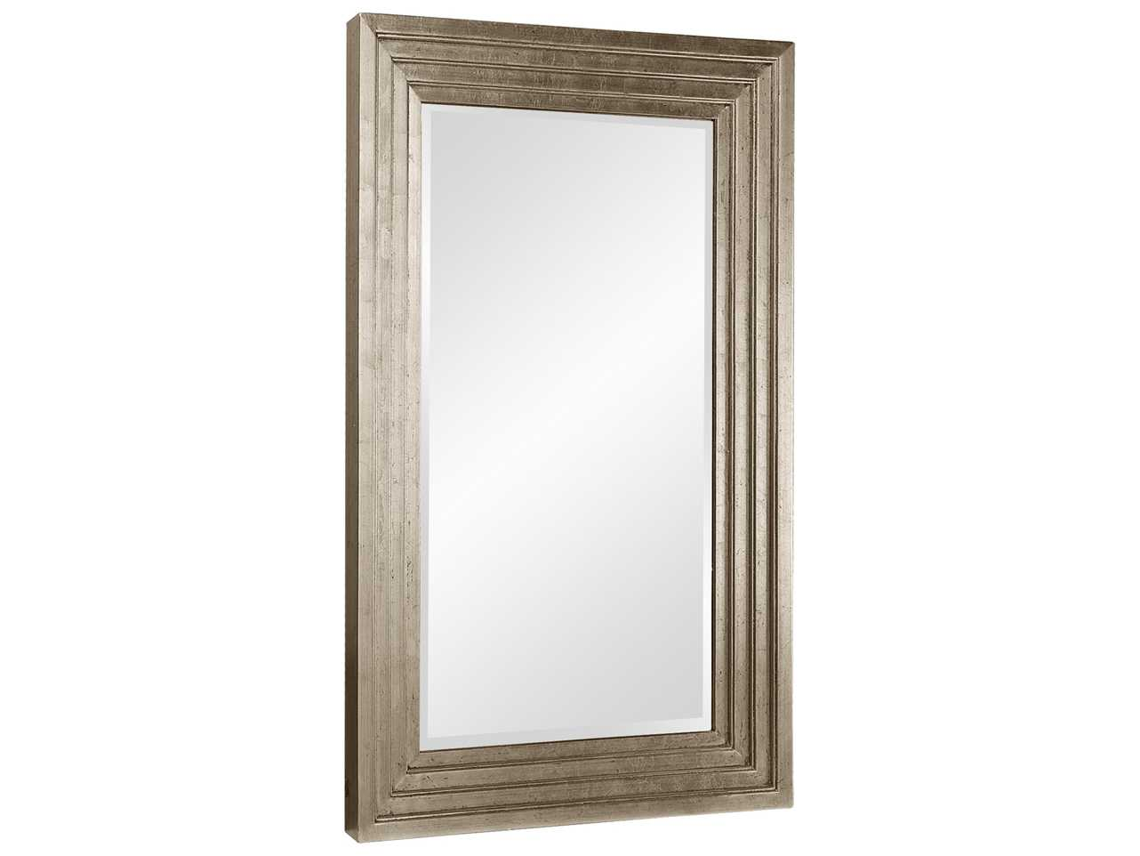 Howard elliott delano 34 x 46 small silver wall mirror for Small silver mirror