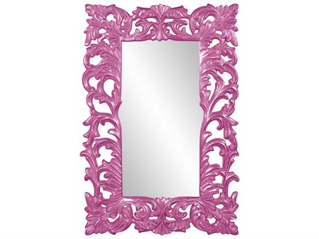 Howard Elliott Augustus Glossy Hot Pink Wall Mirror