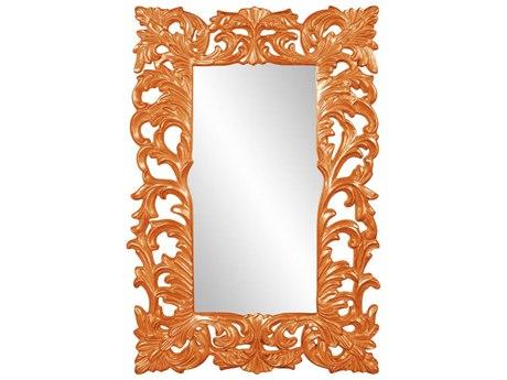 Howard Elliott Augustus Glossy Orange Wall Mirror