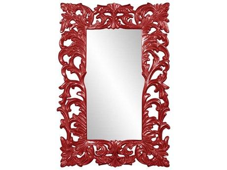 Howard Elliott Augustus Glossy Red Wall Mirror