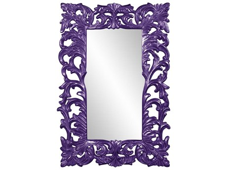 Howard Elliott Augustus Glossy Royal Purple Wall Mirror