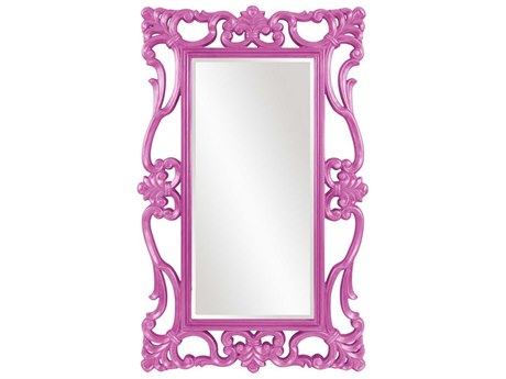 Howard Elliott Whittington 44'' W x 71'' H Glossy Hot Pink Wall Mirror