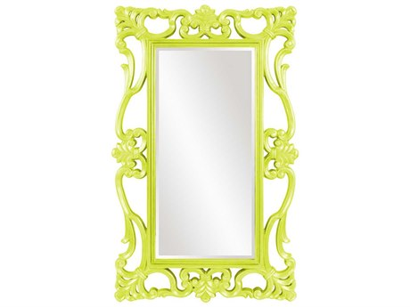 Howard Elliott Whittington 44'' W x 71'' H Glossy Green Wall Mirror
