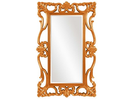 Howard Elliott Whittington 44'' W x 71'' H Glossy Orange Wall Mirror
