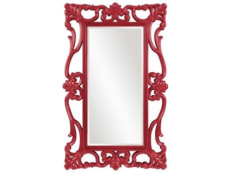 Howard Elliott Whittington 44'' W x 71'' H Glossy Red Wall Mirror