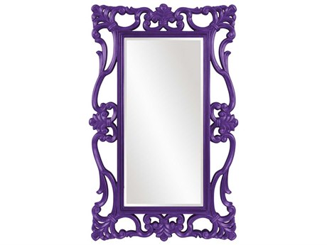 Howard Elliott Whittington 44'' W x 71'' H Glossy Royal Purple Wall Mirror