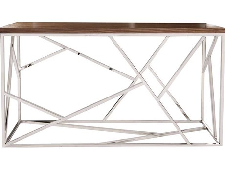 Howard Elliott Angles 60'' x 16'' Rectangular Silver Console Table
