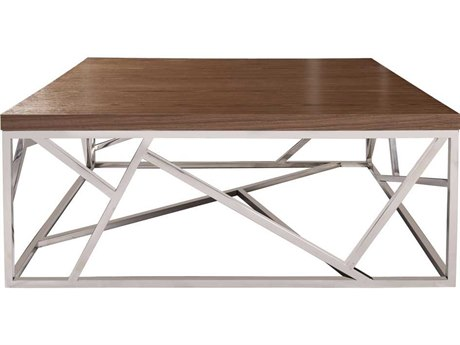Howard Elliott Angles 39.5'' Square Silver Coffee Table