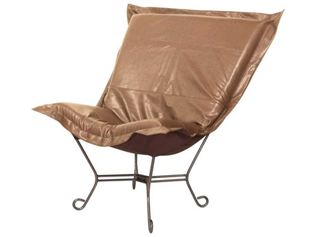 Howard Elliott Avanti Bronze Scroll Puff Chair - Titanium Frame