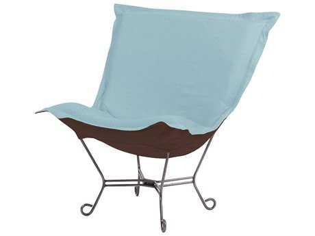 Howard Elliott Sterling Breeze Scroll Puff Chair - Titanium Frame