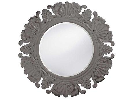 Howard Elliott Anita 44 Round Charcoal Gray Wall Mirror