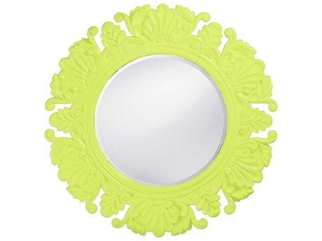 Howard Elliott Anita 44 Round Green Wall Mirror