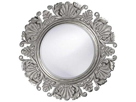 Howard Elliott Anita Glossy Nickel Round Wall Mirror