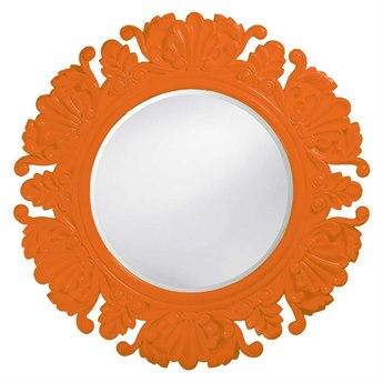 Howard Elliott Anita 44 Round Orange Wall Mirror