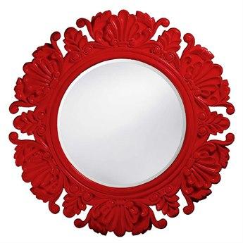 Howard Elliott Anita 44 x 44 Red Round Wall Mirror