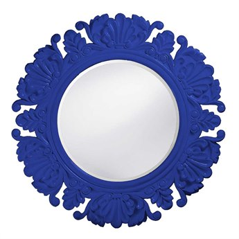 Howard Elliott Anita 44 Round Royal Blue Round Wall Mirror