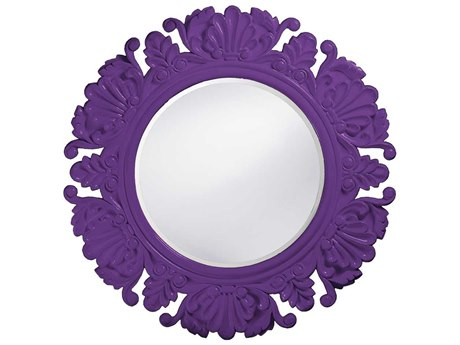 Howard Elliott Anita 44 Round Royal Purple Wall Mirror