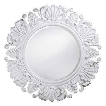 Howard Elliott Anita 44 Round White Round Wall Mirror
