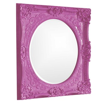 Howard Elliott Monique 30 x 30 Hot Pink Wall Mirror