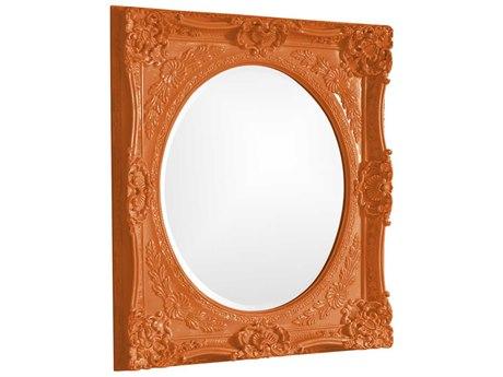 Howard Elliott Monique 30 x 34 Orange Wall Mirror