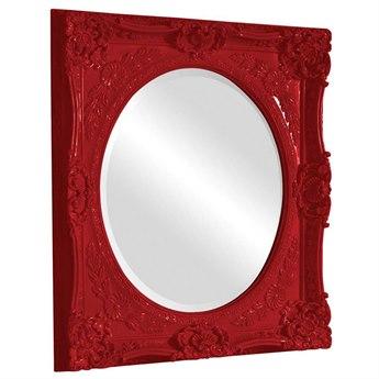 Howard Elliott Monique 30 x 34 Red Wall Mirror