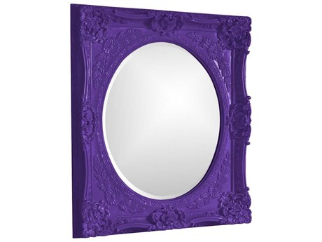 Howard Elliott Monique 30 x 34 Royal Purple Wall Mirror