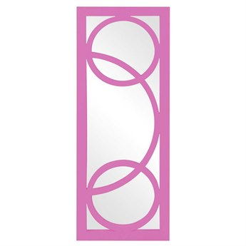Howard Elliott Dynasty 15 x 38 Pink Wall Mirror