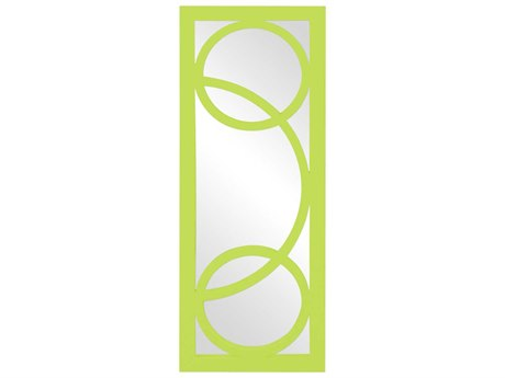 Howard Elliott Dynasty 15 x 38 Green Wall Mirror
