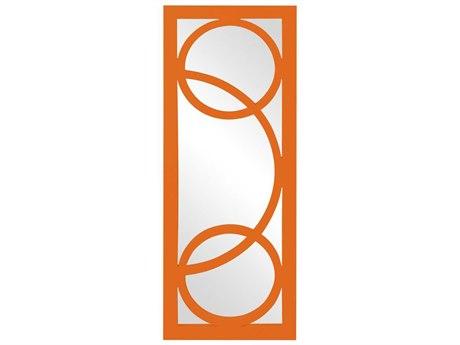Howard Elliott Dynasty 15 x 38 Orange Wall Mirror
