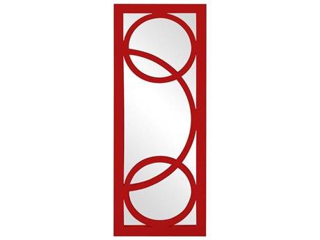 Howard Elliott Dynasty 15 x 38 Red Wall Mirror