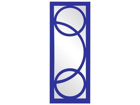Howard Elliott Dynasty 15 x 38 Blue Wall Mirror