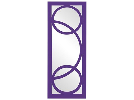 Howard Elliott Dynasty 15 x 38 Purple Wall Mirror