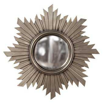 Howard Elliott Euphoria 21 x 21 Brushed Nickel Wall Mirror