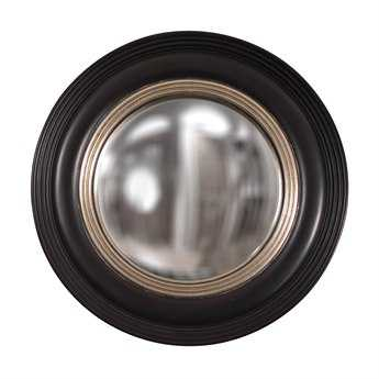 Howard Elliott Soho 14 Round Black Wall Mirror