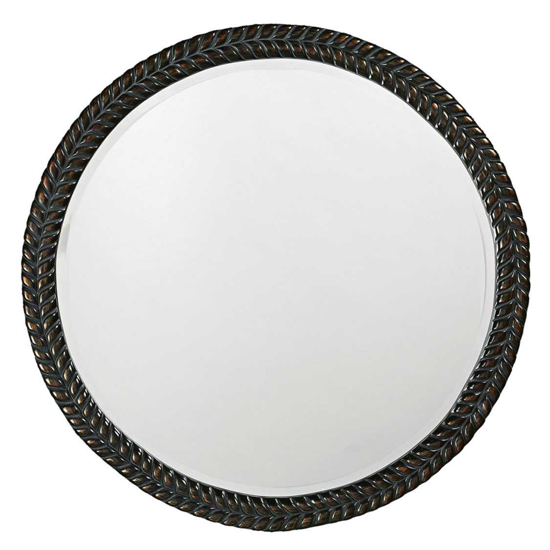 Howard elliott amelia 32 round black wall mirror he5128 for Round black wall mirror