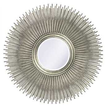 Howard Elliott Singapore 50 Round Silver Wall Mirror