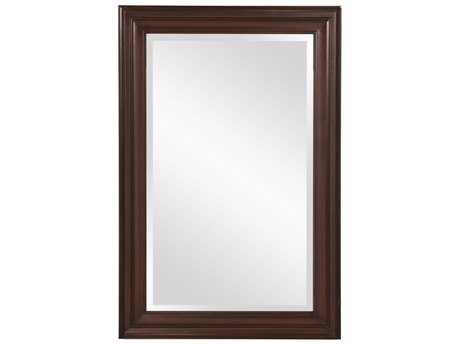 Howard Elliott George 24 x 36 Rectangular Brown Wall Mirror