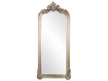 Howard Elliot Tudor 38'' W x 87'' H Silver Floor Floor Mirror