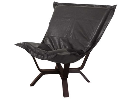 Howard Elliott Avanti Black Milan Puff Chair