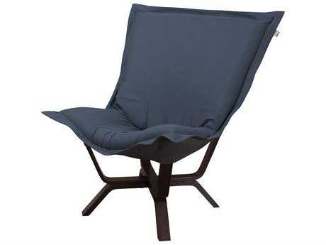 Howard Elliott Sterling Indigo Milan Puff Chair