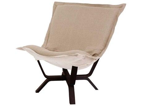 Howard Elliott Prairie Linen Natural Milan Puff Chair